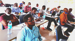 Cross-section of participants at the training of trainers